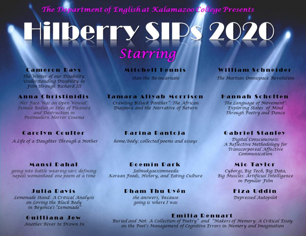 Hilberry SIP presenters and titles